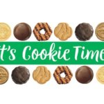 girl scout cookies at palm desert street fair